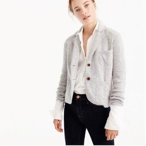 J. Crew Cropped Sweater Blazer Gray Medium